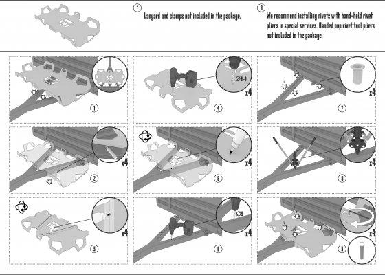 TESSERACT mounting plate box
